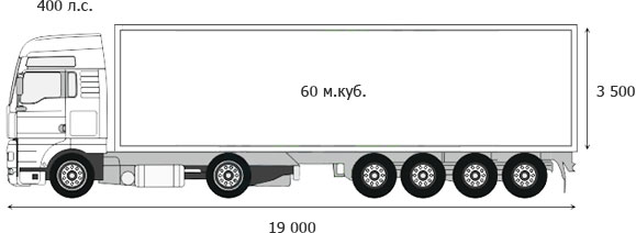 Grain Truck 60 m3 without overloading