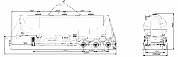 SF3U48_3A_17 fifth-wheel 1150, 3 compartments - ЗАО «Сеспель»
