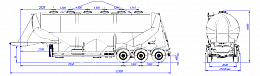 SF3U48_3A_09 fifth-wheel 1150, 3 compartments - ЗАО «Сеспель»