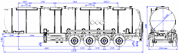 SF4932.4N_01, 32 m3, 4 compartments, fifth-wheel 1250 - ЗАО «Сеспель»
