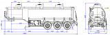 SF3330.3S_04, fifth-wheel 1150, 30 m3, 3 compartments - 1 |  ЗАО «Сеспель»