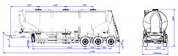SF3U48_1A_07 fifth-wheel 1150, 1 compartment - ЗАО «Сеспель»