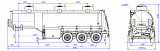 SF3328_3S_23, fifth-wheel 1200, 3 compartments, 28 m3 - 1 |  ЗАО «Сеспель»