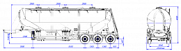 SF3U48_3A_10 fifth-wheel 1150, 3 compartments - ЗАО «Сеспель»