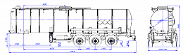 SF3B25_1S_13, fifth-wheel 1250, 25 m3, 1 compartment - ЗАО «Сеспель»