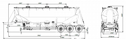 SF3U48_1A_09 fifth-wheel 1150, 1 compartment - ЗАО «Сеспель»