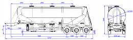 SF3U48_1A_02 fifth-wheel 1150, 1 compartment - ЗАО «Сеспель»