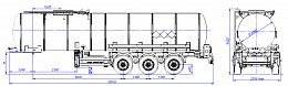 SF3B25_1S_08, fifth-wheel 1250, 25 m3, 1 compartment  - ЗАО «Сеспель»