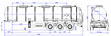 96487B fifth-wheel 1150, 1 compartment_37 chemical - 1 |  ЗАО «Сеспель»