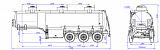 SF3328_3S_22, fifth-wheel 1200, 3 compartments, 28 m3 - 1 |  ЗАО «Сеспель»