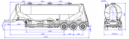 SF3U48_3A_05 fifth-wheel 1150, 3 compartments - ЗАО «Сеспель»