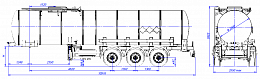 SF3B25_1S_12, fifth-wheel 1250, 25 m3, 1 compartment - ЗАО «Сеспель»