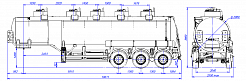 SF3332.5S, fifth-wheel 1250, 5 compartments_01 - ЗАО «Сеспель»