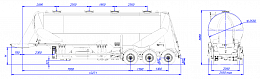 SF3U48_1A_03 fifth-wheel 1350, 1 compartment - ЗАО «Сеспель»