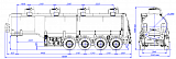 4-axle steel semitrailer SF4332.4S_05 - 1 |  ЗАО «Сеспель»