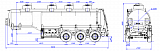 SF3328_4S_04, fifth-wheel 1250, 4 compartments, 28 m3  - 1 |  ЗАО «Сеспель»