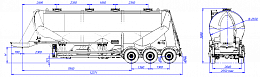 SF3U48_1A_06 fifth-wheel 1150, 1 compartment - ЗАО «Сеспель»