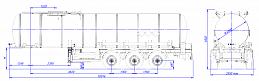 SF3B25_1S_05, fifth-wheel 1350, 25 m3, 1 compartment - ЗАО «Сеспель»