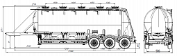 SF3U41_3S_01 fifth-wheel 1150, 1 compartment - ЗАО «Сеспель»